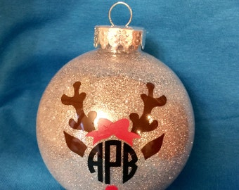 Personalized Christmas Ornament with Monogram