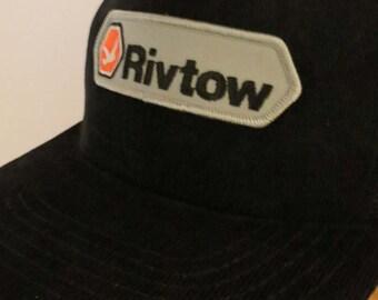 RIVTOW Cap Hat Black Corduroy Authentic Trucker Snapback