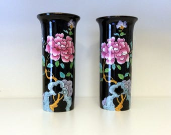 Pair of Wood & Sons Sleeve Vases - Sheraton