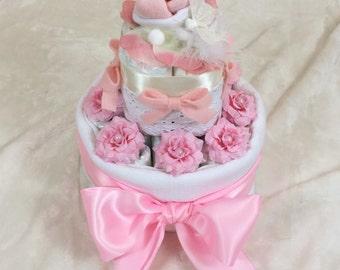 Baby Pink Diaper Cake