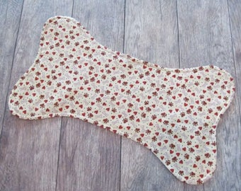 Dog Bone Placemat, Dog Food Mat, Pet Food Mat, Dog Food Placemat, Pet Placemat, Dog Bowl Mat