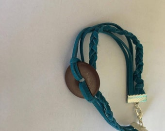 3 layer faux leather bracelet