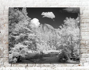 Yosemite Valley Photo, Black White Photography, American West, Scenic Landscape Photography, Wall Art, Wall Decor, National Parks
