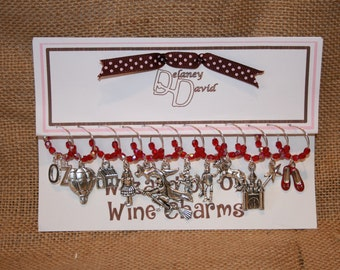 Wine Charms :   12 Wizard of Oz