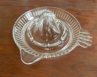 Vintage Citrus Juicer Clear Glass