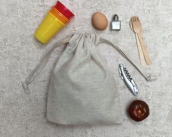 smallbags in beige PuTTY Métis canvas - 2 sizes - bags in cotton and linen