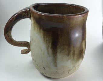 Large eath-toned mug, ceramic mug, large cofee mug