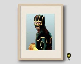 Kick Ass tribute digital illustration by Alexander Fechner