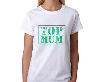 Top Mum Women's White T-shirt NEW Sizes S-2XL