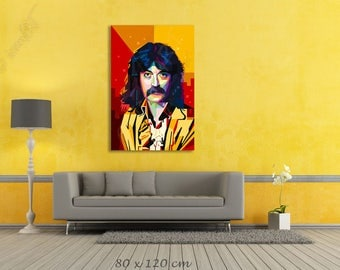 Tribute to Jon Lord - FRAMED ART, personalized gift, name, City, Date, pop art, Wall Art, gift for women, gift for men, Parents