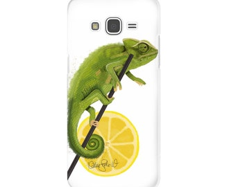 Smartphone Case Chameleon | Chameleo Painting Reptile Art Pet Art Wall Decor Gift Canvas Art Surrealistic Painting Smartphone Hard Caseq