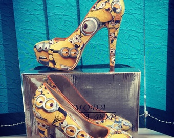 Minions high heel stiletto shoes