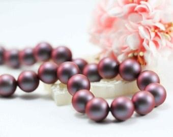 10 pcs, Genuine Swarovski® 5810 12.0mm Iridescent Red Pearl