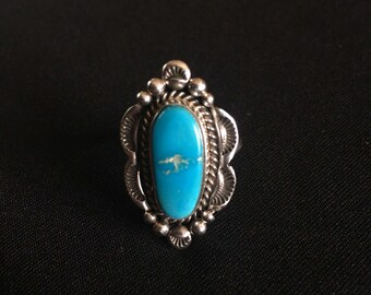 Sterling Silver Sleeping Beauty Ring Size 6 3/4