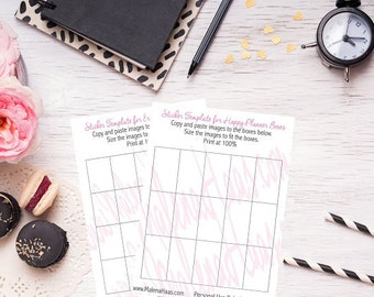 Happy Planner Sticker Template Printable for Full Boxes