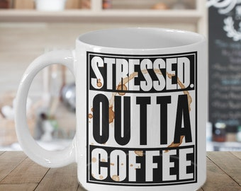 Funny Coffee Mug - Coffee Addicts Mug - Coffee Lovers Mug - Gifts Under 20 - Humorous Mug - Gifts For Her - Gifts For Him - Novelty Mug