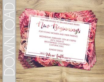 Custom 2017 New Beginnings Invitations - Printable