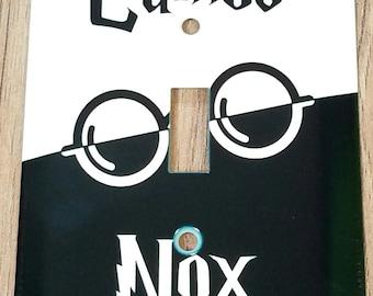 Harry Potter Lumos Nox Metal Light Switch Plate