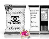 chanel baby shower etsy. Black Bedroom Furniture Sets. Home Design Ideas
