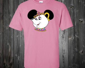 Custom Disney Shirt: Beauty and the Beast Movie character Mrs POTTS shirt - Personalize with ONE name FREE
