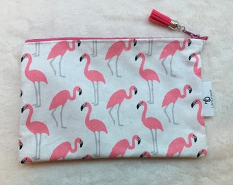 Flamingos print washbag
