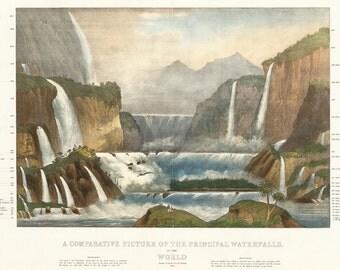 Poster / poster 50x70cm Waterfalls