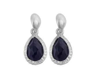 Modern Black Onyx Drop Earrings