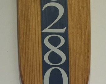 Wooden Decorative House Number Boat Oar, Nautical Address, Painted Oar, Wall Art, Paddle , Coastal Decor, Outdoor Decoration