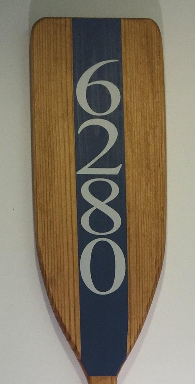 wooden decorative house number boat oar nautical address. Black Bedroom Furniture Sets. Home Design Ideas