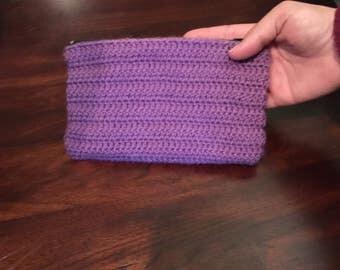 Hand crochet zipper organizer bag