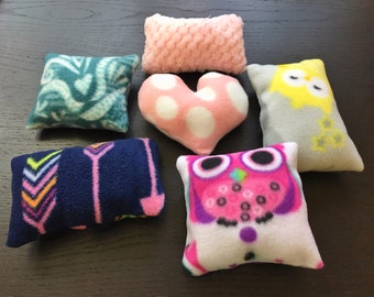 6 Lovely Pillows, Guinea Pig, Hamster, Chinchilla, Hedgehog, Rat