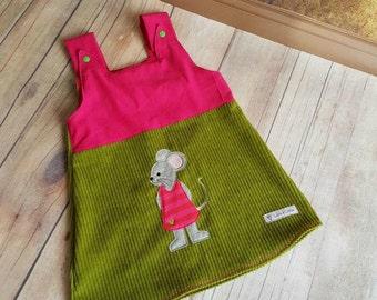 Mouse dress corduroy dress bib skirt Gr. 50-146 mouse