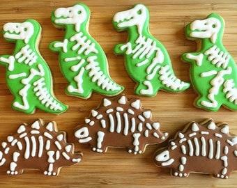 One dozen Dinosaur Fossil Cookies