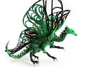 Dragon,dragon figurine,green dragon,green,dragon statue,dragon statuette