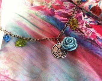 Rose Chain Zodiac Necklace