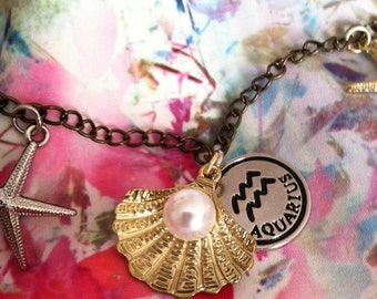 Seashell Chain Zodiac Necklace