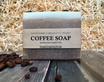 Coffee soap Coffee lover Craft Soap Office gift Coffee gift Gourmet Organic soap Fragranced soap Cold process soap Homemade Soap Vegan