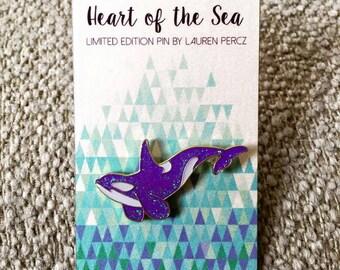 Orca Enamel Lapel Pin