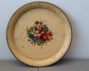 Former platter painted metal time Napoleon 3