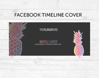 Facebook Cover Timeline | Pineapple | Colorful