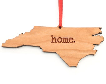 North Carolina home. Christmas Ornament - NC North Carolina Ornament - Home Christmas Ornament