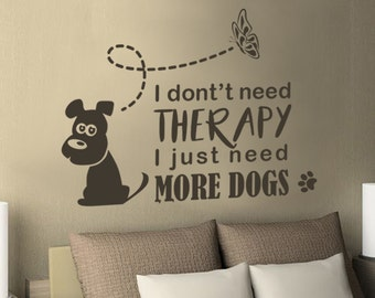 Dog And Butterfly Etsy - Custom vinyl wall decals dogs