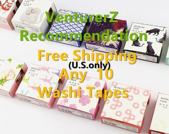 FREE SHIPPING Japanese Washi Tape, Masking Tape, Planner Stickers,Crafting Supplies,Scraping Booking,Adhesive Tape,Floral Washi Tape