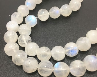 Rainbow Moonstone Plain Round 7.5mm to 8mm 13 Inches strand/Plain Round/ Rainbow Moonstone Beads/Semiprecious Stone beads/Gemstone Beads