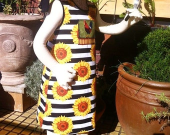Girls designer cotton sunflower dress sizes 2 - 8 years
