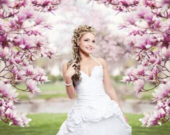 Blossom tree backdrop, background, spring, flowers, cherry blossom, wedding, engagement, prom, senior