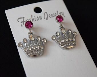 Royal Princess Disney Inspired Crown Earrings
