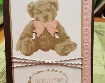 Baby Bear - Girl card