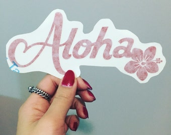 Aloha Flower Vinyl Decal //