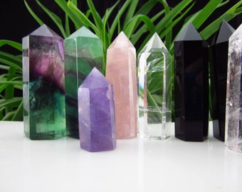 Clear Crystal Point/Obsidian Point/Rose Quartz Point/Citrine Point/Amethyst Point/Fluorite Point/Grid(Size:,40mm,50mm,60mm,70mm,80mm,100mm)
